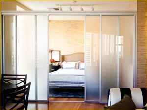 Перегородка между спальней и комнатой