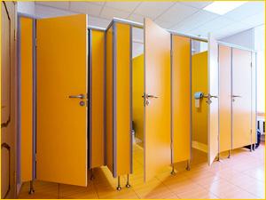Перегородки в туалет в офисное здание